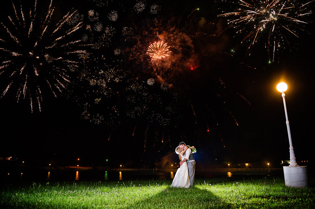 Wedding Fireworks At Country Wedding Venue Berry Acres In Odessa Missouri